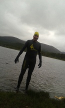 Coming out of Loch Morlich