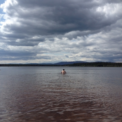 Skin swimming in Loch Morlich